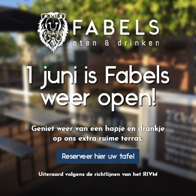 1 juni is Fabels weer open!